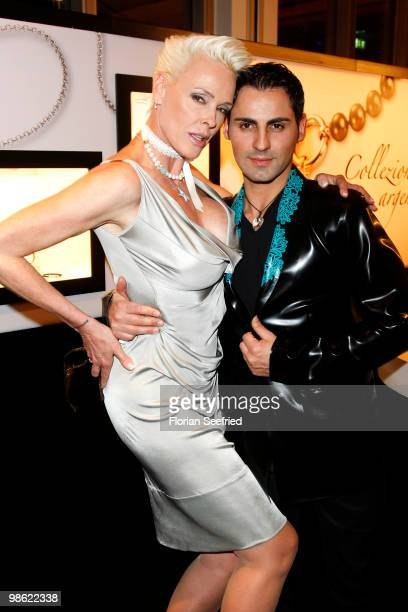 Actress Brigitte Nielsen and Mattio Dassi attends the 'new faces award 2010' at cafe Moskau on April 22 2010 in Berlin Germany