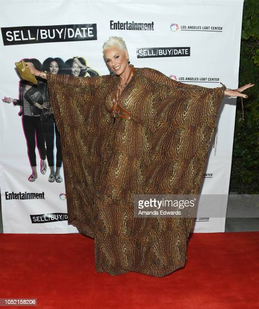 Actress Brigitte Nielsen arrives at the opening night of 'Sell/Buy/Date' at the Los Angeles LGBT Center on October 14 2018 in Los Angeles California