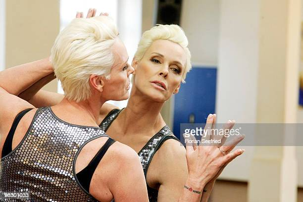 Actress Brigitte Nielsen attends 'Let's Dance' training at Tanzschule Stelter on April 7 2010 in Berlin Germany