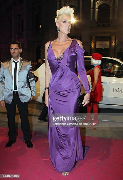 Actress Brigitte Nielsen attends the Life Ball 2012 AIDS charity fundraiser at City Hall on May 192 012 in Vienna Austria