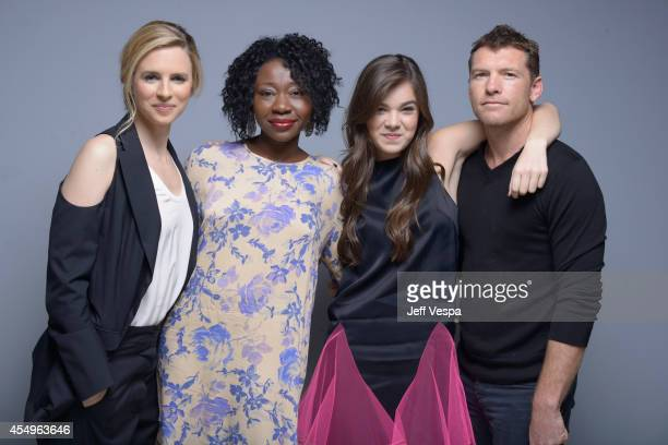 Actress Brit Marling actress Muna Otaru actress Hailee Steinfeld and actor Sam Worthington of 'The Keeping Room' pose for a portrait during the 2014...