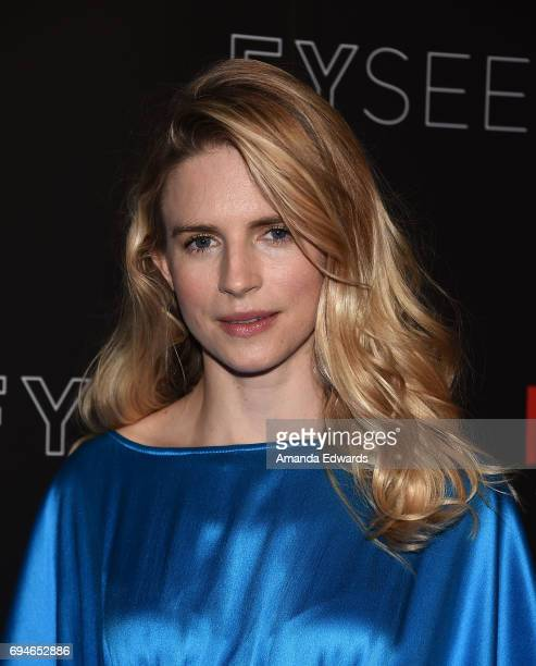 Actress Brit Marling arrives at Netflix's The OA FYC Event at the Netflix FYSee Space on June 10 2017 in Beverly Hills California