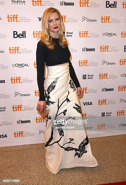 Actress Brit Marling attends The Keeping Room premiere during the 2014 Toronto International Film Festival at The Elgin on September 8 2014 in...