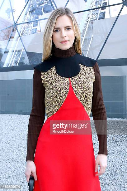 Actress Brit Marling attends the Louis Vuitton show as part of the Paris Fashion Week Womenswear Fall/Winter 2015/2016 on March 11 2015 in Paris...