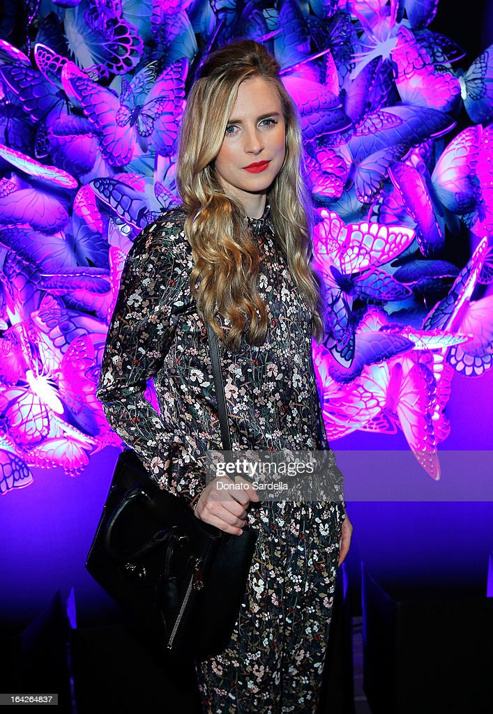 Actress Brit Marling attends the Mulberry Autumn Winter '13 celebration dinner at Chateau Marmont on March 21, 2013 in Los Angeles, California.