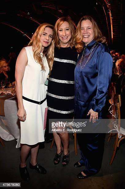 Actress Brit Marling Executive Director of the Sundance Institute Keri Putnam and Cindy Harrell Horn attend the 2015 Sundance Institute Celebration...
