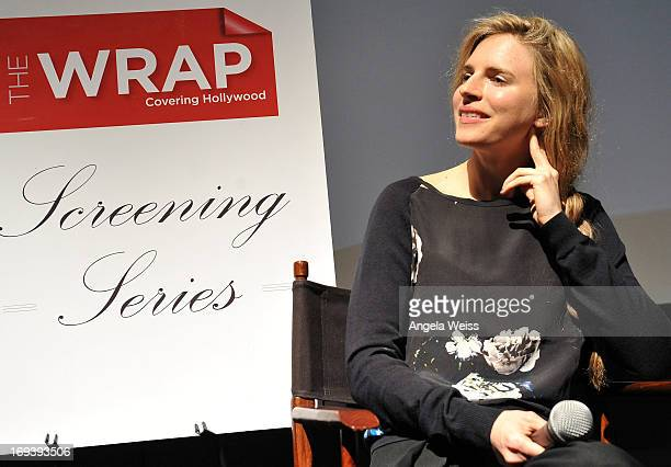 Actress Brit Marling participates in a QA following TheWrap's screening of 'The East' at the Landmark Theater on May 23 2013 in Los Angeles California