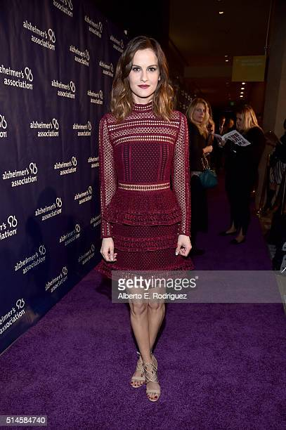 """Actress Brit Shaw attends the 24th and final """"A Night at Sardi's"""" to benefit the Alzheimer's Association at The Beverly Hilton Hotel on March 9, 2016..."""