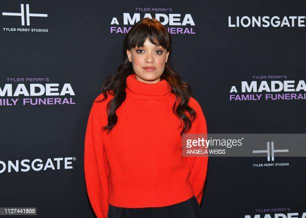 Actress Britne Oldford attends the NY special screening for Tyler Perry's 'A Madea Family Funeral' at SVA Theater on February 25 2019 in New York City