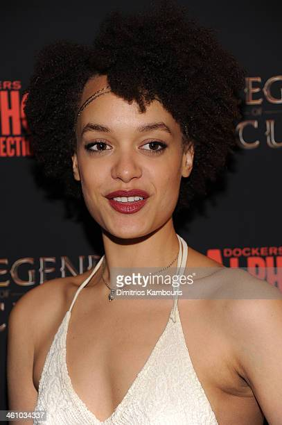 Actress Britne Oldford attends the The Legend Of Hercules premiere at the Crosby Street Hotel on January 6 2014 in New York City