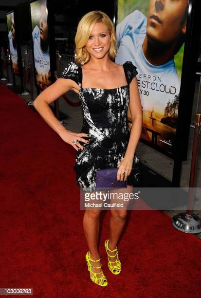 Actress Britney Snow arrives at the premiere of Universal Pictures' Charlie St Cloud held at the Regency Village Theatre on July 20 2010 in Westwood...
