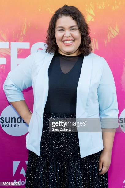 Actress Britney Young arrives for the 2017 Sundance NEXT FEST at The Theater at The Ace Hotel on August 12 2017 in Los Angeles California