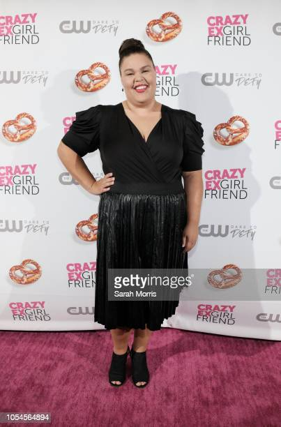Actress Britney Young attends the Crazy ExGirlfriend season 4 premiere party at El Cid on October 13 2018 in Los Angeles California