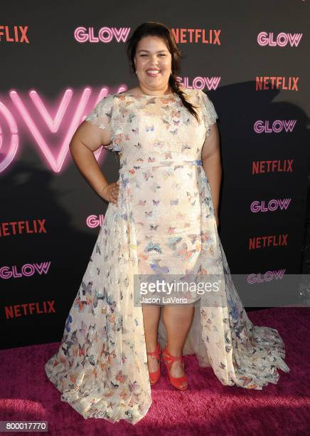 Actress Britney Young attends the premiere of 'GLOW' at The Cinerama Dome on June 21 2017 in Los Angeles California