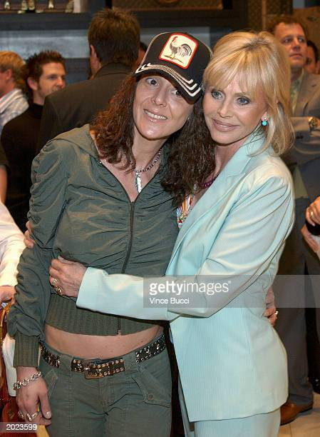Actress Britt Ekland and daughter Victoria Sellers attend a cocktail reception at the Louis Vuitton store on Rodeo Drive in Beverly Hills California...
