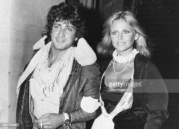 Actress Britt Ekland and her date David Morrison arriving at the nightclub Tramp in London July 6th 1982