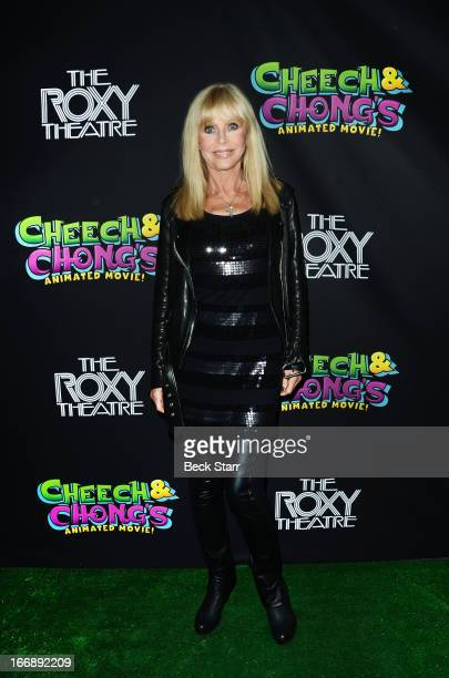 Actress Britt Ekland arrives at 'Cheech And Chong's Animated Movie' VIP green carpet premiere at The Roxy Theatre on April 17 2013 in West Hollywood...