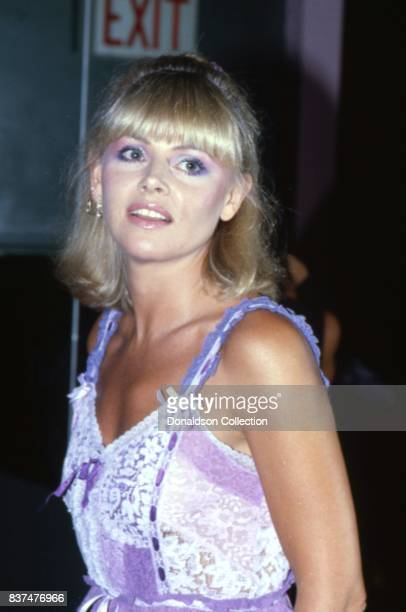 Actress Britt Ekland attends SAG and AFTRA Actors On Strike in circa 1980 in Los Angeles California