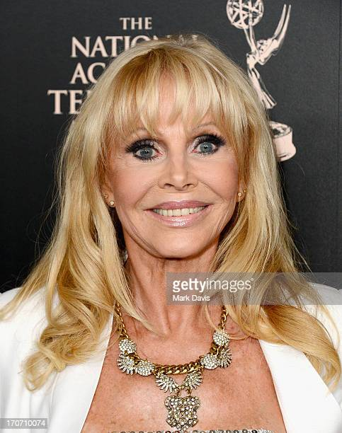 Actress Britt Ekland attends The 40th Annual Daytime Emmy Awards at The Beverly Hilton Hotel on June 16 2013 in Beverly Hills California