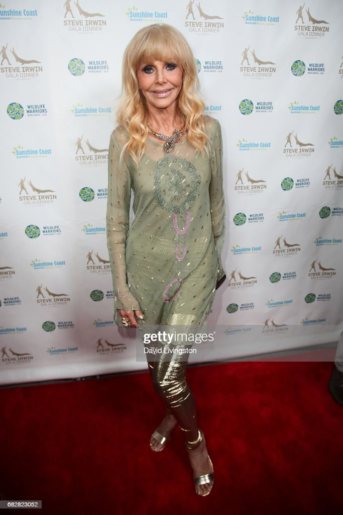 Actress Britt Ekland attends the Steve Irwin Gala Dinner at the SLS Hotel at Beverly Hills on May 13, 2017 in Los Angeles, California.
