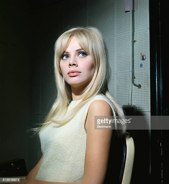 Actress Britt Ekland on the set of the television show The Trials of O'Brien where she will be making an appearance