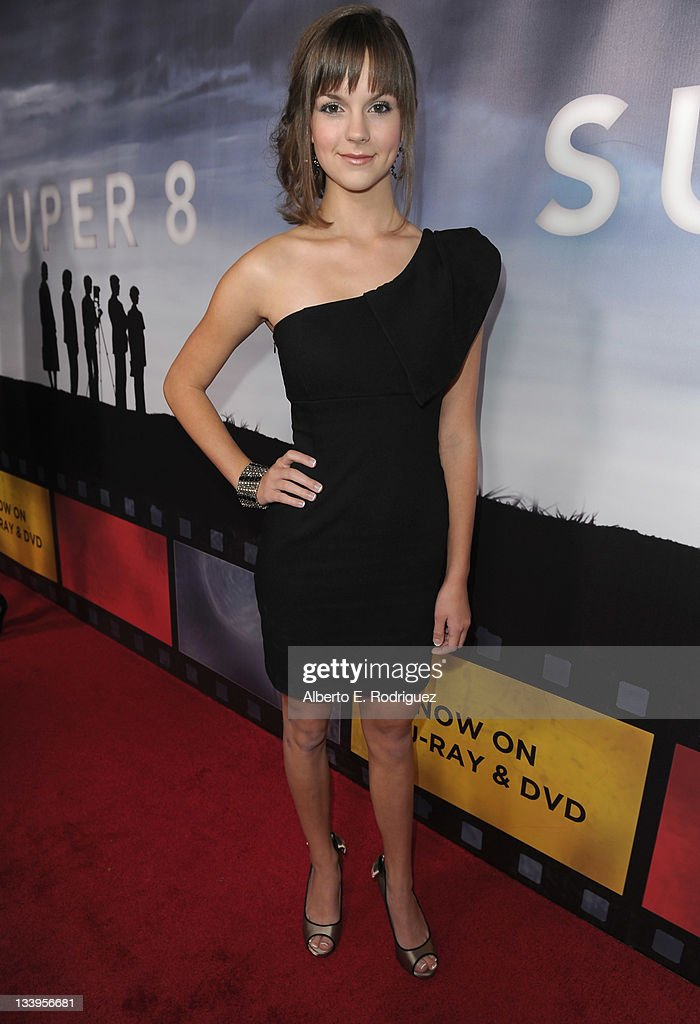 Actress Britt Flatmo arrives to Paramount Pictures' 'Super 8' Blu-ray and DVD release party at AMPAS Samuel Goldwyn Theater on November 22, 2011 in Beverly Hills, California.