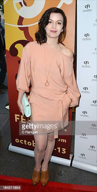 Actress Britt Lower arrives to the premiere of 'Beside Still Waters' at CineArts Sequoia on October 12 2013 in Mill Valley California