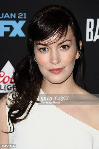 Actress Britt Lower attends the FX's Baskets red carpet premiere held at Pacific Design Center on January 14 2016 in West Hollywood California