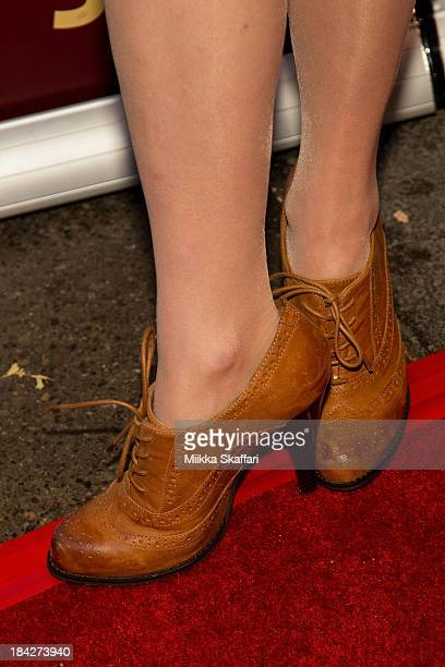Actress Britt Lower is arriving to the premiere of 'Beside Still Waters' on October 12 2013 in Mill Valley California