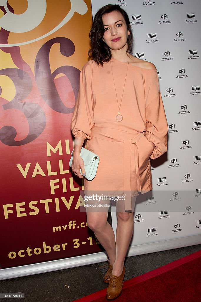 Actress Britt Lower is arriving to the premiere of 'Beside Still Waters' on October 12, 2013 in Mill Valley, California.