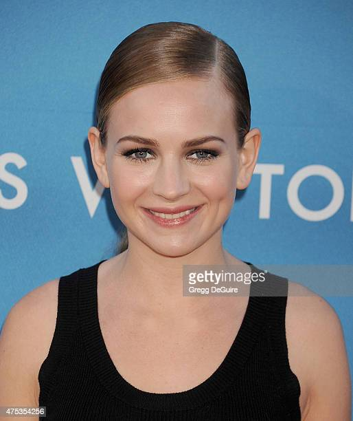 Actress Britt Robertson arrives at the 2015 MOCA Gala presented by Louis Vuitton at The Geffen Contemporary at MOCA on May 30 2015 in Los Angeles...