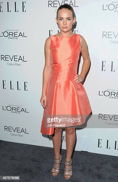 Actress Britt Robertson arrives at the 21st Annual ELLE Women In Hollywood Awards at Four Seasons Hotel Los Angeles at Beverly Hills on October 20,...