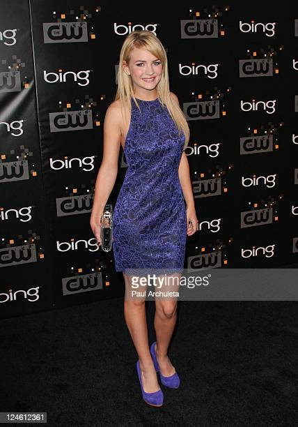 Actress Britt Robertson arrives at the The CW premiere party at Warner Bros Studios on September 10 2011 in Burbank California