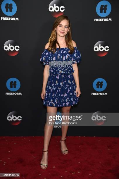Actress Britt Robertson attends during 2018 Disney ABC Freeform Upfront at Tavern On The Green on May 15 2018 in New York City