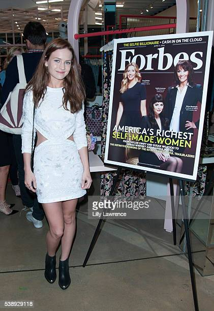 Actress Britt Robertson attends FORBES Magazine celebrates Sophia Amoruso for 'Self Made Women' issue at Nasty Gal on June 8 2016 in Los Angeles...