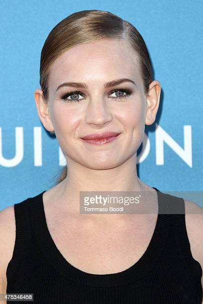 Actress Britt Robertson attends the Museum of Contemporary Art Los Angeles annual gala presented by Louis Vuitton held at The Geffen Contemporary at...