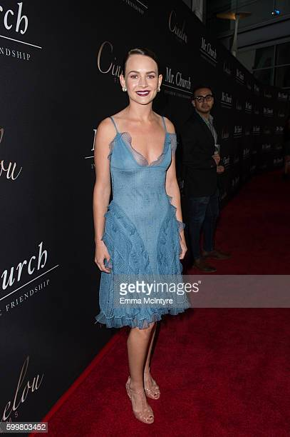 Actress Britt Robertson attends the premiere of Cinelou Releasing's 'Mr Church' at ArcLight Hollywood on September 6 2016 in Hollywood California