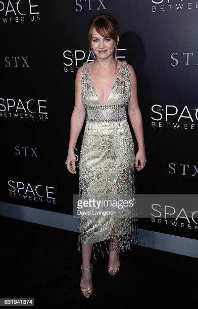 Actress Britt Robertson attends the premiere of STX Entertainment's The Space Between Us at ArcLight Hollywood on January 17 2017 in Hollywood...