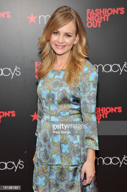 Actress Britt Robertson attends Tommy Hilfiger Celebrates Fashion's Night Out at Macy's Herald Square on September 6 2012 in New York City