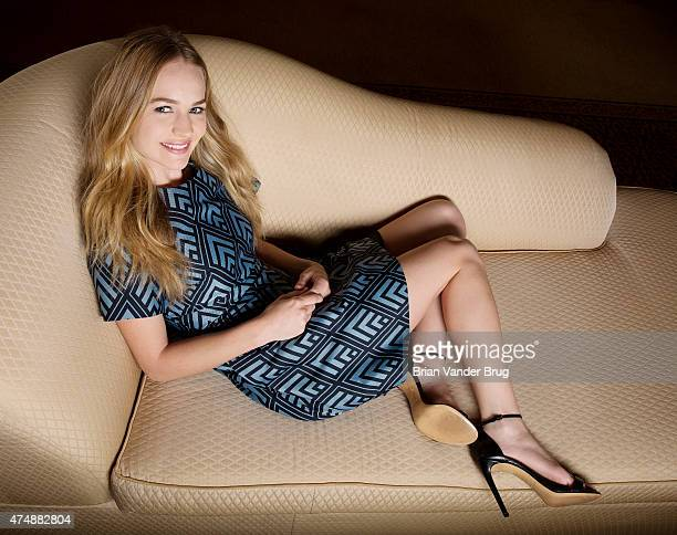 LOS ANGELES CA MAY 08 2015 Actress Britt Robertson is photographed for Los Angeles Times on May 8 2015 in Beverly Hills California PUBLISHED IMAGE...