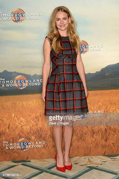 Actress Britt Robertson poses during the Tomorrowland A World Beyond Photocall at Claridges Hotel on May 18 2015 in London England