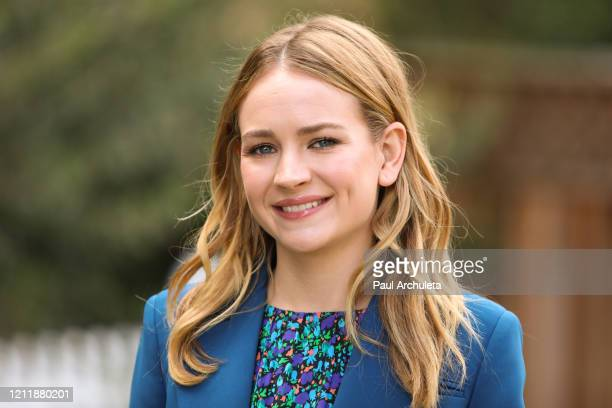 Actress Britt Robertson visits Hallmark Channel's Home Family at Universal Studios Hollywood on March 11 2020 in Universal City California