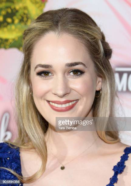 Actress Brittany Bristow attends Hallmark Channel and Hallmark Movies and Mysteries Winter 2018 TCA Press Tour at Tournament House on January 13 2018...
