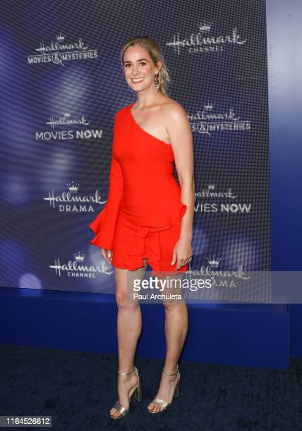Actress Brittany Bristow attends the Hallmark Channel and Hallmark Movies Mysteries summer 2019 TCA press tour Event at Private Residence on July 26...