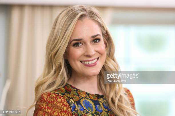 Actress Brittany Bristow visits Hallmark's Home Family at Universal Studios Hollywood on February 13 2019 in Universal City California