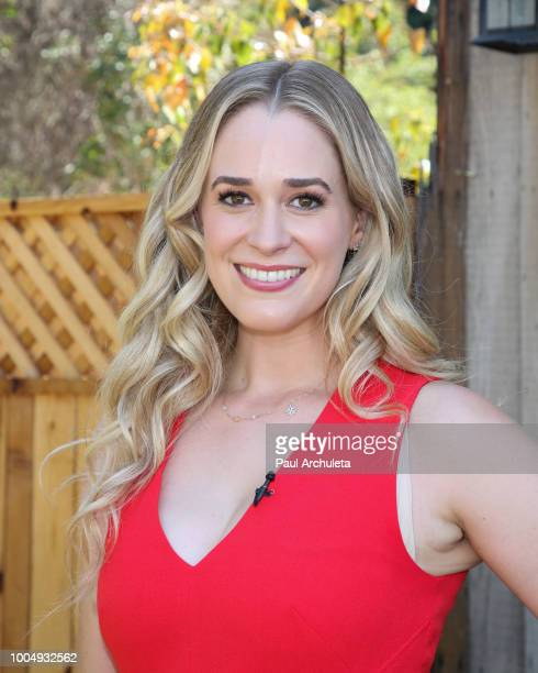 Actress Brittany Bristow visits Hallmark's Home Family celebrating 'Christmas In July' at Universal Studios Hollywood on July 24 2018 in Universal...