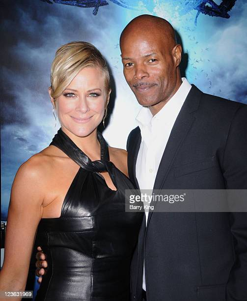 """Actress Brittany Daniel and actor Keenan Ivory Wayans arrive for the """"Skyline"""" - Los Angeles Premiere at Regal Cinemas L.A. Live on November 9, 2010..."""