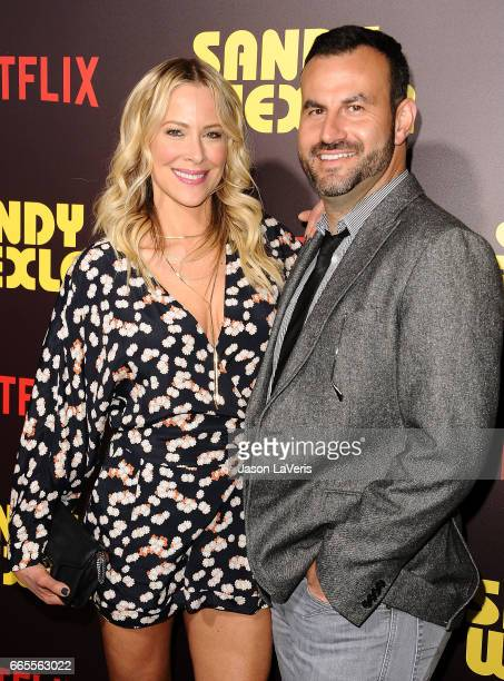 """Actress Brittany Daniel and Adam Touni attend the premiere of """"Sandy Wexler"""" at ArcLight Cinemas Cinerama Dome on April 6, 2017 in Hollywood,..."""