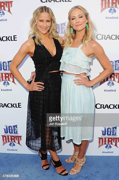 Actress Brittany Daniel and sister Cynthia Daniel arrive at Crackle Hosts World Premiere Of Joe Dirt 2 Beautiful Loser at Sony Studios on June 24...