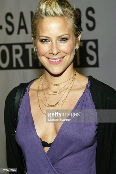 Actress Brittany Daniel arrives at TEN's presentation of Timothy GreenfieldSanders XXX 30 PornStars Portraits at Bergamont Station on April 1 2005 in...